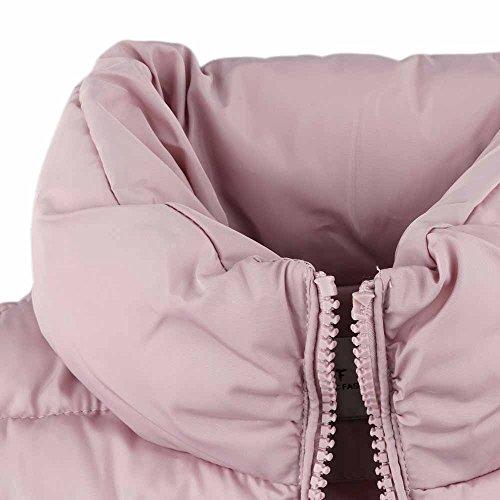 Doldoa Inverno Della Rivestimento Chiusura Comfort Collo Lampo Slim Colore Alto Di Fit Caldo Delle Rosa A Autunno Cotone Donne UvHdwv