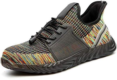 Happysourceメンズセーフシューズアンチスマッシングアンチピアス滑り止め通気性スニーカー作業靴