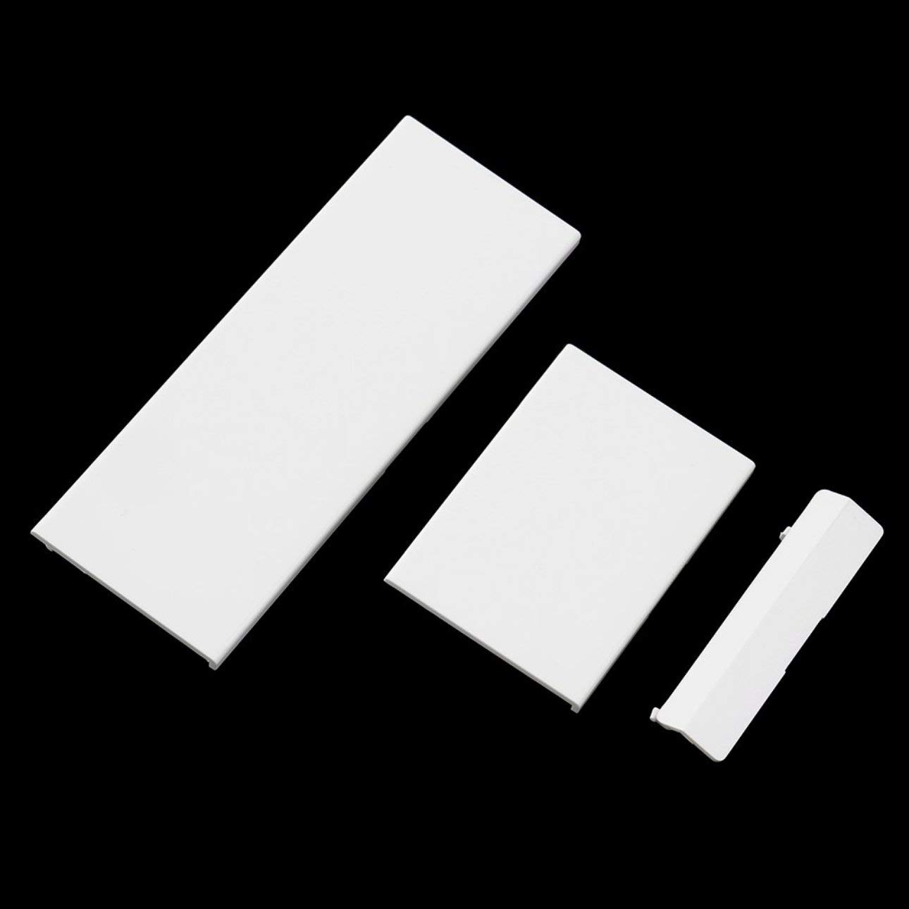 Liobaba Replacement Memeory Card Door Slot Cover Lid 3 Parts Door Covers for Nintendo Wii Console System White