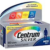 Centrum Silver Men (100 Count) Multivitamin / Multimineral Supplement Tablet, Vitamin D3, Age 50+ For Sale