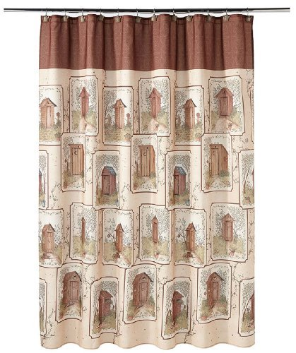 outhouse shower curtain - 1