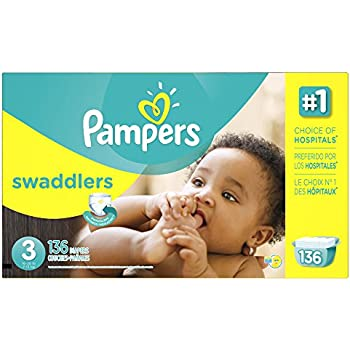 Pampers Size 3 Swaddlers Diapers, 136 Count