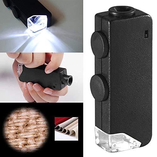 60X 100X Led Lighted Pocket Microscope