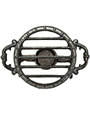 Sungmor Heavy Duty Cast Iron Teapot Dish Warmer Stable Holder for Tealight Stand | Tealight Warmer Decorative Stove for Villa Yard Balcony-Round