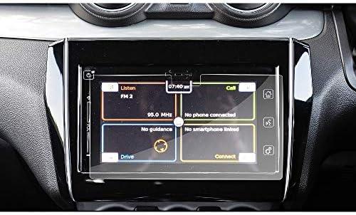 XHULIWQ スクリーンプロテクターカーナビゲーションディスプレイスクリーン目に見えない透明保護、スズキスイフト7インチ用