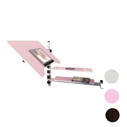 Flower Racks LUYIASI- Escritorio Simple del Ordenador portátil Mesa Plegable del Dormitorio del Escritorio (