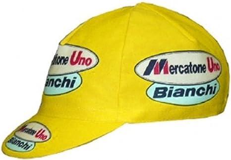 APIS - Gorra de ciclismo de algodón, diseño Mercatone Uno: Amazon ...