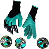 Work Gloves Garden with Fingertips Right Claws Quick & Easy to Dig and Plant Safe for Pruning, Digging & Planting Nursery Plants Medium, Best Gardening Tool for Gardeners Gift (1 pair) (green)