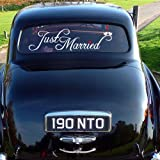 """WallStickerUSA Medium """"Just Married"""" Quote Saying Wall Sticker Decal Transfer Film 17×25, Baby & Kids Zone"""