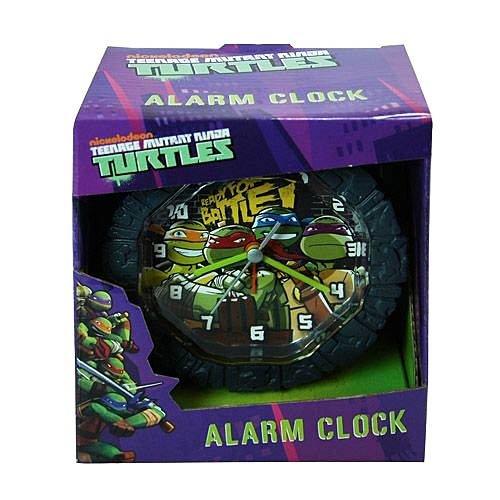 """TMNT Teenage Mutant Ninja Turtles Battery Operated Snooze Alarm Clock with Custom Molded Case Room Decoration 5.75"""""""