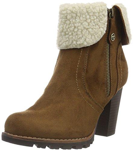 Tom Tailor 1690205, Zapatillas de Estar por Casa para Mujer Marrón - Braun (Hazel)