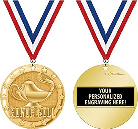 Amazon com : Crown Awards Honor Roll Medal, 2