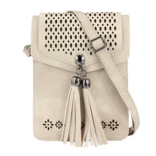 Small Purse Tassel Women Cell ZORFIN for Phone Crossbody Bags IwxnfEEqBt