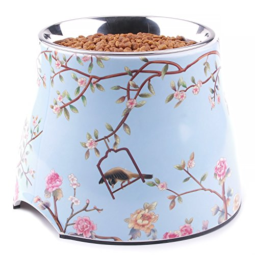 Super Design Exquisite Elevated Dog Bowl Raised Dog Feeder for Food and Water