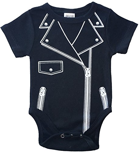 CHUBS MOTO, Unisex Baby Bodysuit, Baby Motorcycle Jacket, Baby Biker Clothes, Funny Baby Shower Gifts (6-9 Months) ()