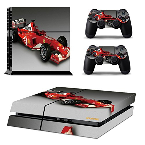 PS4 Skins Racing Formula 1 Sticker Camo Vinly Decal Cover for Sony PS4 PlayStation 4 Console and Controller - Racing Formula 1