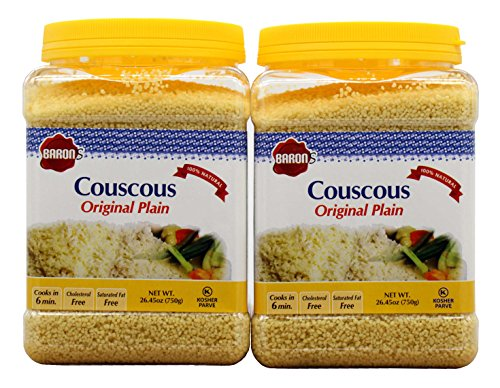 (Baron's Kosher Plain Traditional Original Couscous 26.45-ounce Jar (Pack of 2))