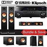 Klipsch RP-280FA 5.2.2-Ch Reference Premiere Dolby Atmos Home Theater Speaker System with Yamaha AVENTAGE RX-A880 7.2-Channel 4K Network A/V Receiver