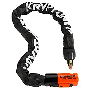 "Kryptonite Evolution Series-4 1090 Integrated Chain Bicycle Lock Bike Lock (35.5"")"