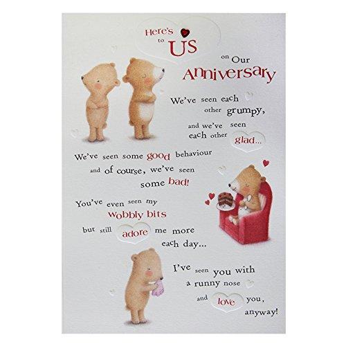 Hallmark anniversary card heres to us medium amazon hallmark anniversary card heres to us medium amazon office products m4hsunfo