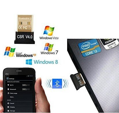 CCKARE Bluetooth USB Adapter, Free Drive, Bluetooth 4.0 Adapter PC For Win 10,8,7, XP Support Headphones, Speakers, etc. by CCKARE (Image #5)