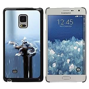 TopCaseStore / la caja del caucho duro de la cubierta de protección de la piel - Ice Grey Gray Winter Frozen - Samsung Galaxy Mega 5.8 9150 9152