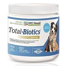 NWC Naturals- Total-Biotics - Probiotics for Canines and Felines - Treats 100 Cups of Pet Food (Superior Formula)