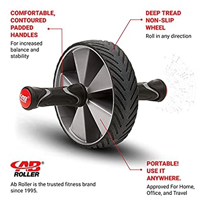 Ab Roller Elite Wheel With Knee Pad - Abdominal Roller Wheel for Core Strength Training Workout - Exercise Machine for Abs - Abdominal Exercise Wheel
