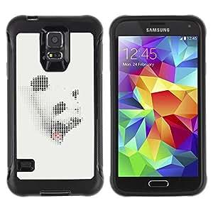 Suave TPU GEL Carcasa Funda Silicona Blando Estuche Caso de protección (para) Samsung Galaxy S5 V / CECELL Phone case / / Panda White Grey Sleepy Yawn Japanese /