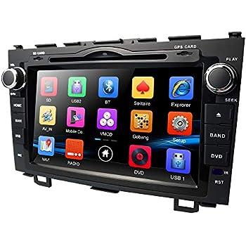 hizpo 8 Inch for Honda CRV CR-V 2007 2008 2009 2010 2011 in Dash HD Touch Screen Car DVD Player GPS Navigation Stereo Bluetooth/SD/USB/Mirrorlink/FM/AM ...