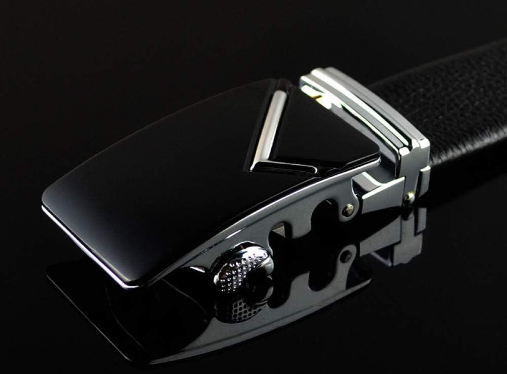 DENGDAI Mens Belt Leather Belt Belt Belt Length 100-135cm