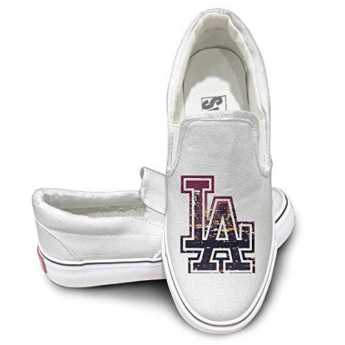 Deamoon LA Activewear Unisex Flat Canvas Shoes Sneaker White 37