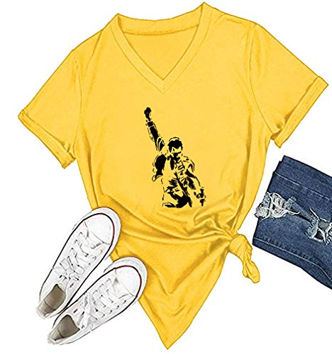 Womens Freddie Mercury Shirts Summer Cute Funny
