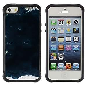 LASTONE PHONE CASE / Suave Silicona Caso Carcasa de Caucho Funda para Apple Iphone 5 / 5S / View Sea Land Ocean Waves