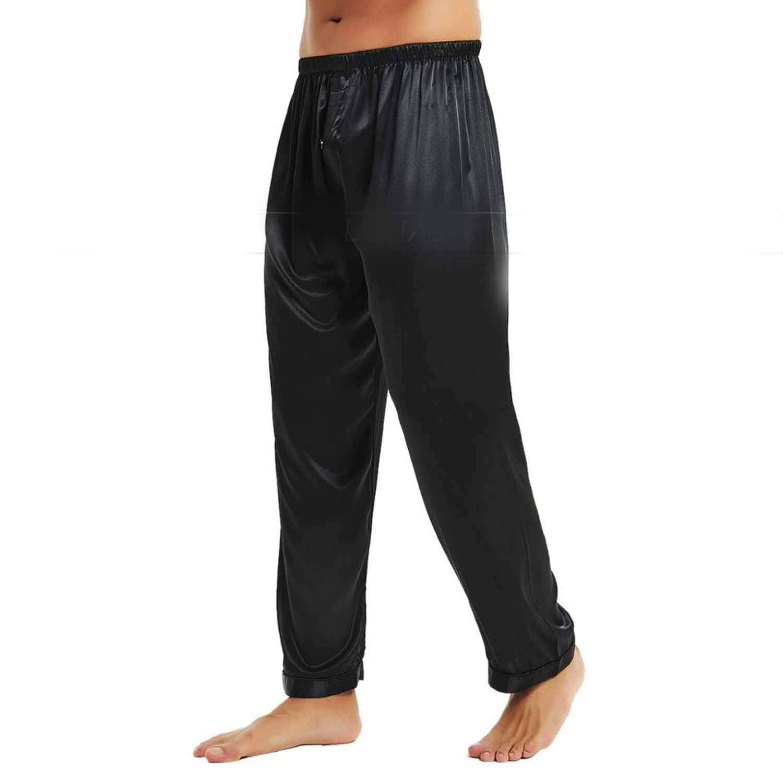 402c5a4afa9 Comradesn Mens Silk Satin Pajamas Pyjamas Pants Lounge Pants Sleep Bottoms  Free P P S~4XL Plus  Amazon.co.uk  Clothing