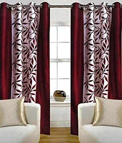 40289c87b04e Buy Freehomestyle Floral Polyester Window Curtain - 5ft