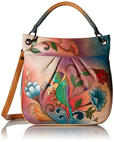 Anuschka Large Convertible Tote PPT, Portuguese Parrot, One (Hand Painted Leather Bags)