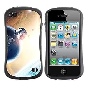 Paccase / Suave TPU GEL Caso Carcasa de Protección Funda para - Asteroids Planet Alien World Universe Sun - Apple Iphone 4 / 4S