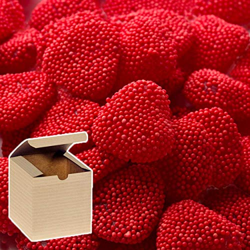 Jelly Belly Valentine Red Raspberry Hearts 1 lb in a Pop! Sugar Gift Box