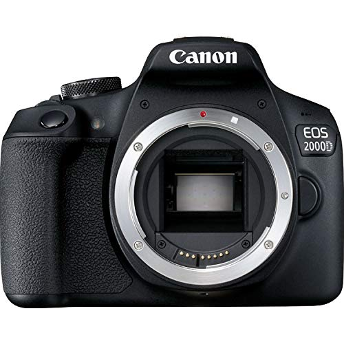 Canon EOS 2000D BK BODY EU26 Cuerpo de la cámara SLR 24,1 MP CMOS 6000 x 4000 Pixeles Negro – Cámara digital (24,1 MP…