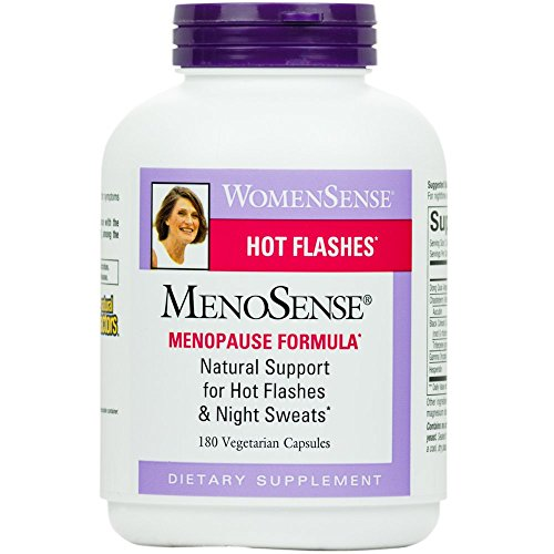Natural Factors - WomenSense MenoSense Menopause Formula, Natural Support for Hot Flashes & Night Sweats, 180 Vegetarian Capsules