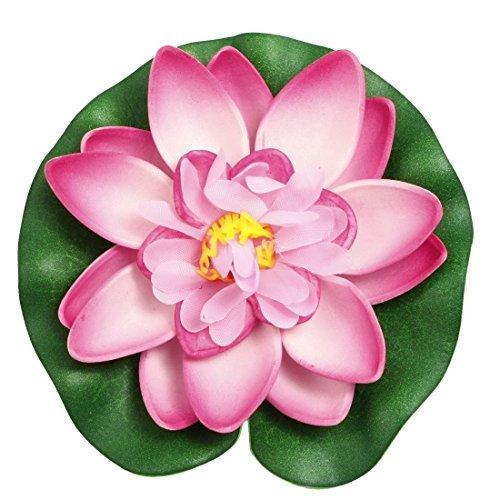 DealMux Fish Tank Floating Lotus Ornament Decor, Dark Pink/White/Green