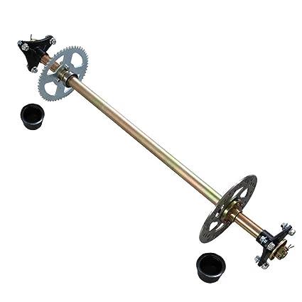 Amazon.com: ZaZaTool Go Kart Rear Axle Kit Complete Wheel Hub Set ...