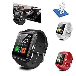 Podómetro Teléfono ARBUYSHOP caliente elegante reloj de pulsera U8 Bluetooth para el iPhone Android Samsung, Rojo