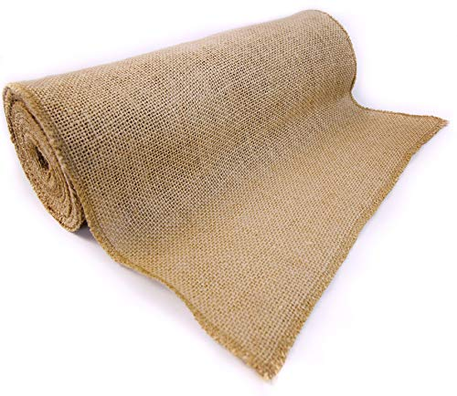 RichCraft 12quot x 10yd NOFRAY Burlap Roll ~ Table Runner Fabric with Finished Edges Perfect for Weddings Placemat Crafts Decorate Without The Mess