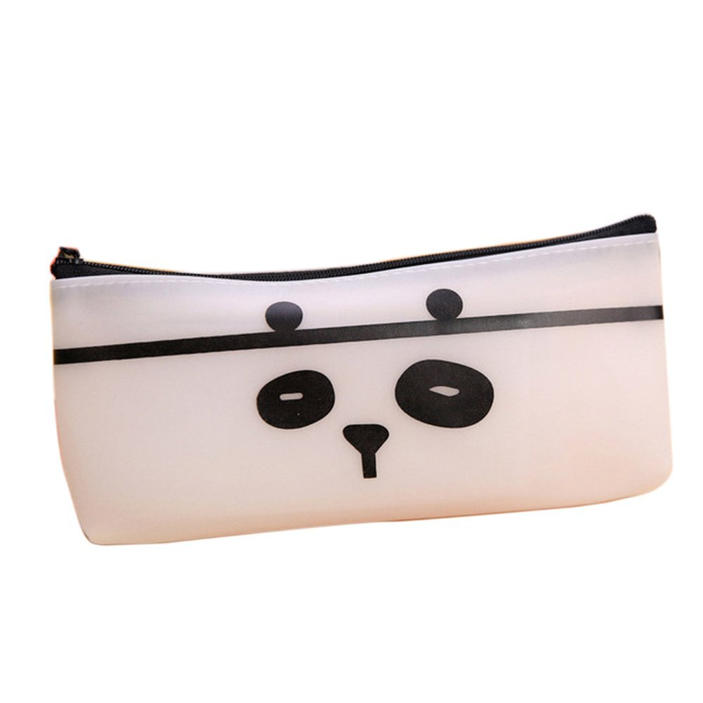 Cosanter Pencil Case Pouch Bag Lovely Cozy Cat Cartoon Pu Leather Large Container Makeup Glasses Bag