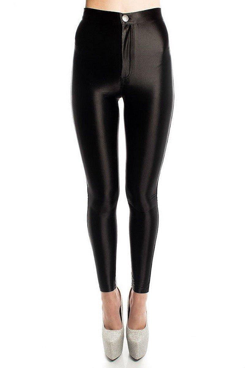 9d5ee73a985cb5 S&M Ladies Women's American Apparel Style Shiny Disco Pants Disco Trousers  (UK 14 EU 42): Amazon.co.uk: Clothing