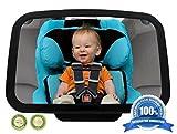 Kosee Baby Des Auto Rücksitzspiegel mit Verstellbarem Riemen zur Leichten Befestigung - Groß