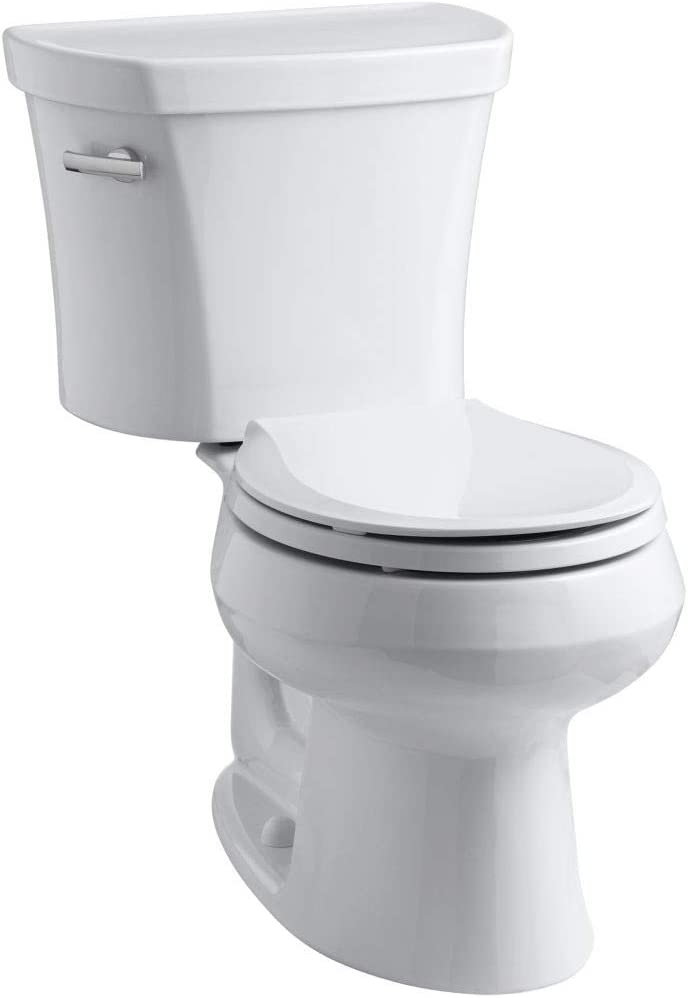 Biscuit 14-inch Rough-In Kohler K-3947-96 Wellworth Round-Front 1.28 gpf Toilet