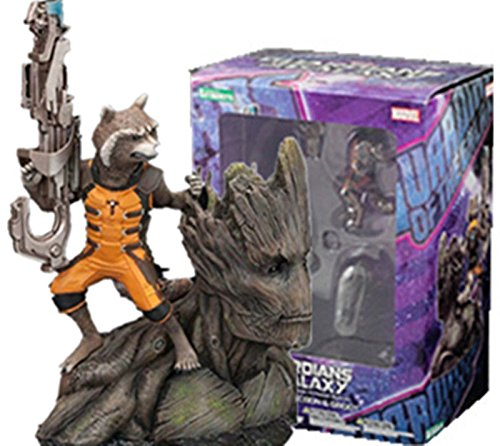 Guardians Of The Galaxy Marvel TOY Artfx+ Rocket Raccoon Groot Figure Statue